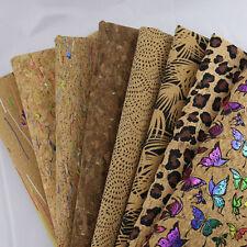 40*50CM Cork Printed Fabric Cloth DIY Garment Bag Craft Material Accessories