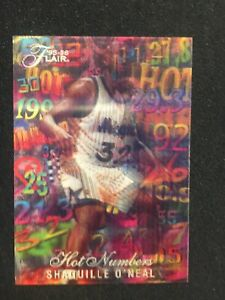 1995-96 Flair Hot Numbers #11 Shaquille O'Neal 🔥HOT🔥 Lenticular!