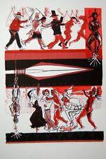 Warrington Colescott Cowboys and Indians 1969 Original Lithograph