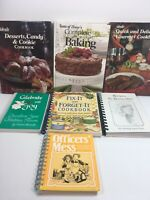 VTG Cookbook Lot Taste Of Home Fix It And Forget It Ideal Gourmet Baking