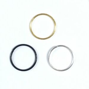 Sterling Silver,Gold Plated,Black Nose Plain Hoop Ear Tragus Rings Stud 8mm-10mm