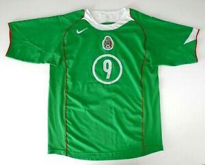 mens retro vintage MEXICO number 9 home football shirt 2004 2005 XL nike RARE