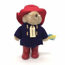 "Paddington Plush Bear Darkest Peru to London 1981 & 1975 Tags 13"" Eden Toys"