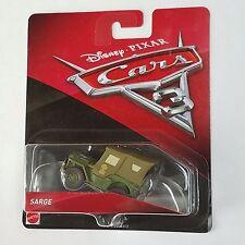 Disney Pixar Cars 3 Sarge Diecast Mattel 1:55 2017