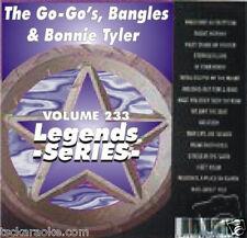 The Bangles, The Go-Go's & Bonnie Tyler Legends Karaoke CDG 16 Sgs