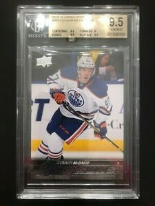 15/16 Upper Deck Connor McDavid Young Guns Rookie BGS graded 9.5 Oilers