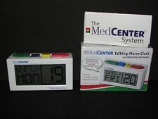 MedCenter Talking Alarm Clock & Medication Pill Reminder w/ 4 Daily Alarms LED