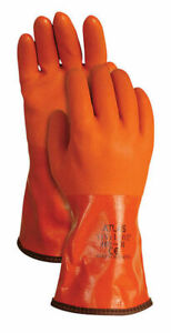 Atlas PVC Insulated Work Gloves Winter Snow Blower Glove Water-Proof, LARGE