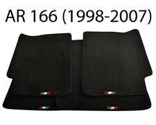 Floor Mats For Alfa Romeo 166 Tailored Black Carpets Set with Italian Emblem NEW