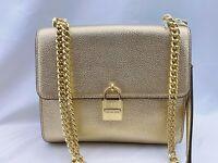 NWT Michael Kors Studio Mercer Large Messenger Crossbody Bag  Pale Gold