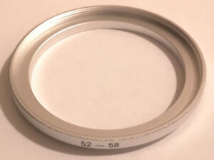 Filter And Lens Adapter Ring 52mm Step Up 58mm, 52mm-58mm