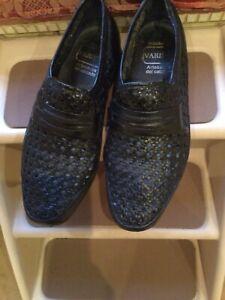mens black basket weave shoes - size eu43
