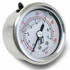 Turbosmart Ts-0402-2023 Fuel Pressure Fpr Gauge 0-100Psi Liquid Filled New