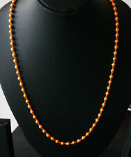 Real looking 22k ct gold plated  chain Asian  style 26 in necklace unisex  hc6
