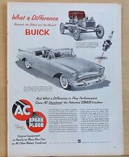 1954 magazine ad for Buick & AC - 1903 Buckboard & 1954 Skylark Convertible
