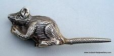 ethnic old Silver Rat Statue Lord Ganesh vehicle mouse