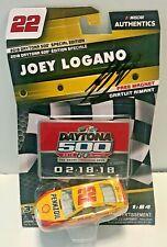 2018 Joey Logano Dayton 500 Shell Pennzoil Signed Auto 1/64 Diecast Car W/ COA