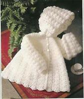 BABY KNITTING PATTERn  for crochet hooded jacket 4ply 16/20 in chest