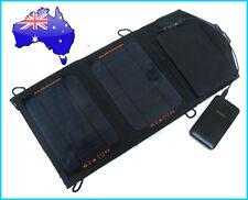 7W Portable Solar Panel Pack+7200mAh Dual USB Power Bank External Mobile Battery