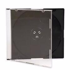 100 New Single Slim Black CD DVD Jewel Case Box 5.2mm Ship Same Biz Day by 12pm