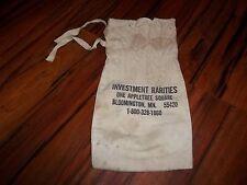 Vtg Investment Rarities One Appletree Square Bloomington MN cloth bank bag sack