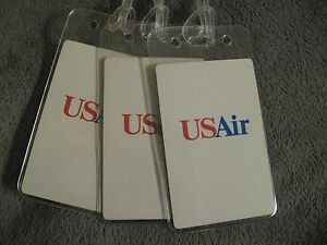 USAir US Air Airways Airline USA Vintage Playing Card Luggage Name Tag Tags (3)