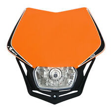 MASCHERINA PORTAFARO RACETECH V-FACE ARANCIO (Orange Headlight) - R-MASKARNR008