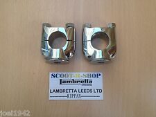 MOTORCYCLE CHROMED BRASS HANDLEBAR RISERS.UNIVERSAL. 1 INCH -PAIR-BRAND NEW