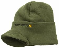 Carhartt Mens Knit Hat With Visor,Army Green,One Size
