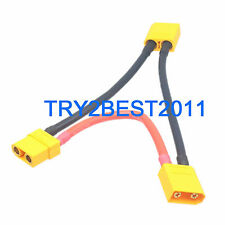 XT90 Connector in Series Harness 10CM 10awg Lead Adapter Cable for Lipo Battery