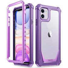 Apple iPhone 11 чехол , поэтическое гибридный бронированный бампер противоударный чехол фиолетовый/прозрачный