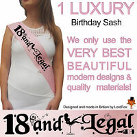 BIRTHDAY GIRL 18TH PARTY SASH NIGHT OUT ACCESSORY FUN GIRLS SASHES EIGHTEEN FUN