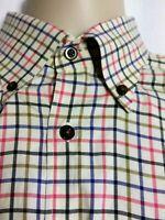 Scott Barber Long Sleeve Button Down Shirt Check Mens Large