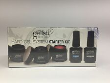 Gelish Hard Gel Systerm **Starter Kit**  3 Colors, French White, Dry Armor