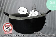 SGA Sugar Glider Hamster Rat Cage Pouch Cute Doraemon Elegant Black