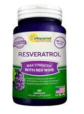 Asquared Nutrition Resveratrol 1000mg per serving 180 Capsules anti-aging Max