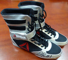 FLOYD MAYWEATHER JR. AUTOGRAPHED REEBOK SILVER BOXING SHOES BECKETT 121801