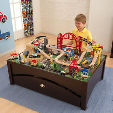 KidKraft Metropolis Train Set Table with 100 accessories included