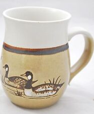 CANADA GOOSE Coffee Mug Cup - Canadian Geese - Pottery Stoneware