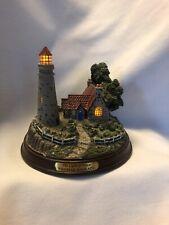 "Thomas Kinkade ""The Light Of Peace� Lighted Lighthouse Works!"