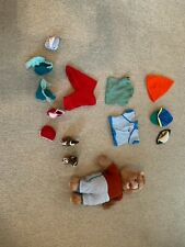 Vintage TeddyRuxpin 1985 Talking Bear with extra clothing Batteries Not Included