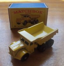 Diecast MATCHBOX LESNEY 1-75 RW No:6b EUCLID QUARRY TRUCK from 1959 GC Boxed