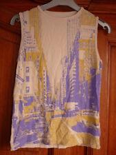TSI T-shirt 16 ans ou 36 beige imprimé en violet New York USA