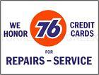 """UNION 76 REPAIRS & SERVICE 9"""" x 12"""" ALUMINUM Sign"""