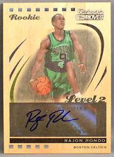 06-07 Topps Trademark Moves Rajon Rondo NBA ROOKIE AUTO WOOD VARIANT #19/19 2007