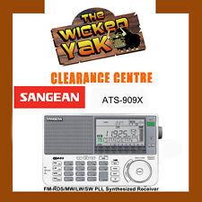 Sangean World Radio with FM-RDS/MW/LW/SW PLL Synthesized Receiver ATS-909X-NEW!