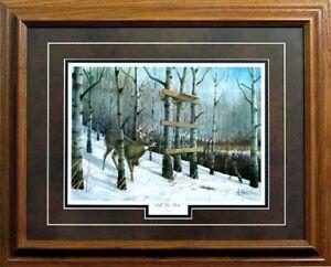 Les Kouba Left To Soon Framed Deer Hunting Art Print  21 x 17