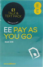 EE NETWORK TRIO SIM CARD - £1 TALK + TEXT PACK - OFFERS OVER 10p ACCEPTED
