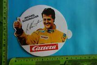 Alter Aufkleber Modellbau -Eisenbahn Rennbahn CARRERA Formel1 Michael Schumacher