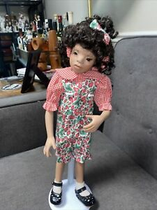 """Rare Porcelain 16"""" African American Doll by Patricia Ryan Brooks 1995"""
